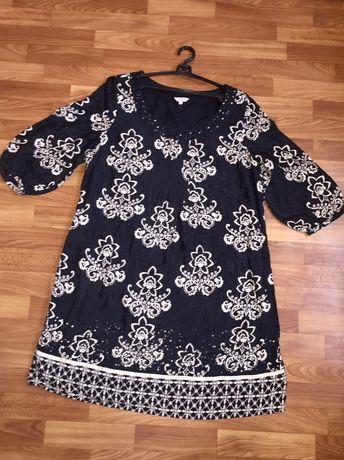 Качественное котоновое платье с паетками per una
