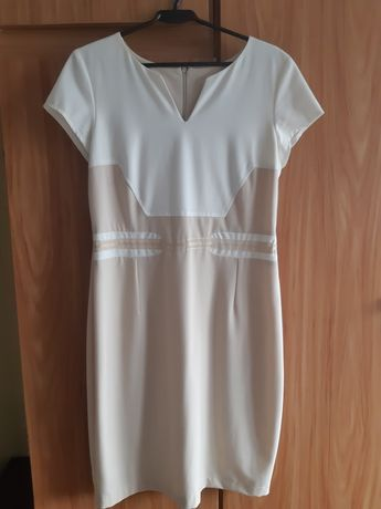 Elegancka sukienka krótki rękaw 42