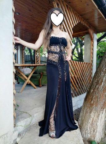 Черное вечернее платье, платье в пол