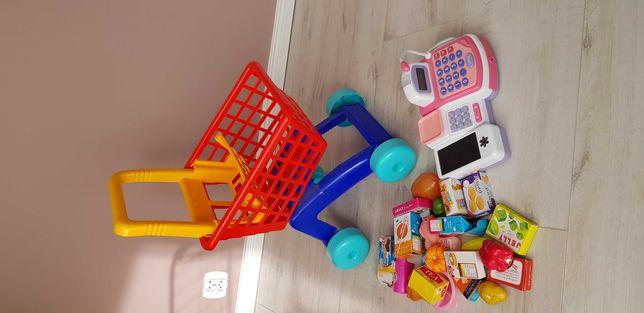 Koszyk sklepowy dla dzieci + kasa