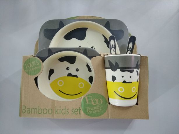 Бамбуковая посуда, набор