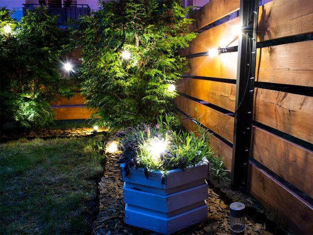 Girlanda ozdobna 10m + 20 żarówek Edisona 1W na ogród, balkon, taras