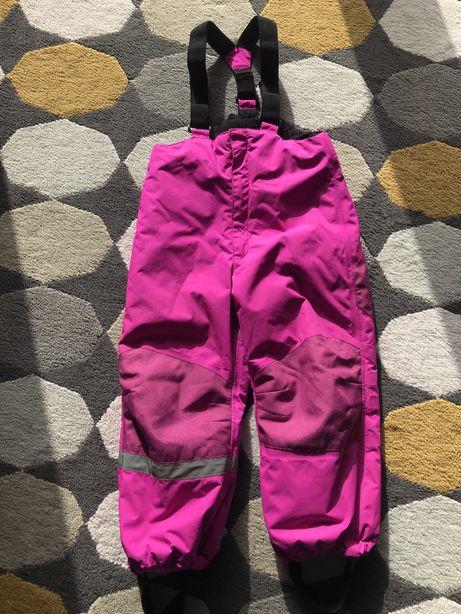 Spodnie narciarskie dziewczęce h&m 110 cm 4-5 lat