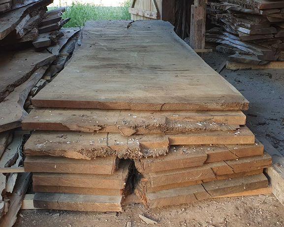 Dąb Blat stół monolit live edge suchy wilgotność 8-11% oak, massivholz