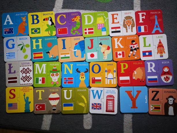 Puzzle Czu Czu alfabet państwa i flagi
