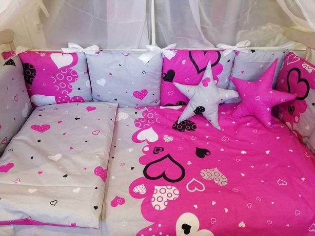 Бортики в кроватку,постельное белье для новорожденного цена от склада