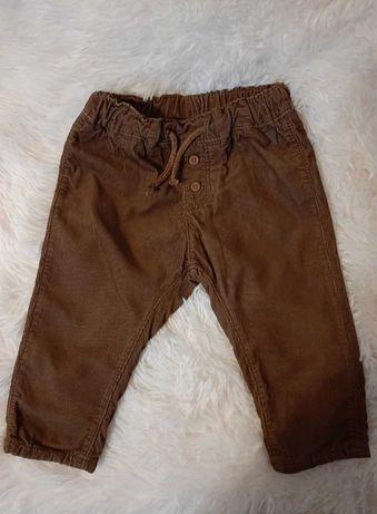 Spodnie sztruksowe 74 h&m