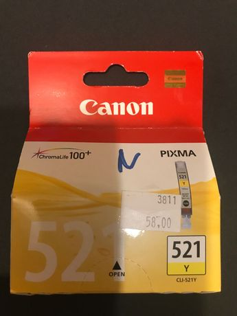Tusz canon 521 Y Pixma yellow żółty
