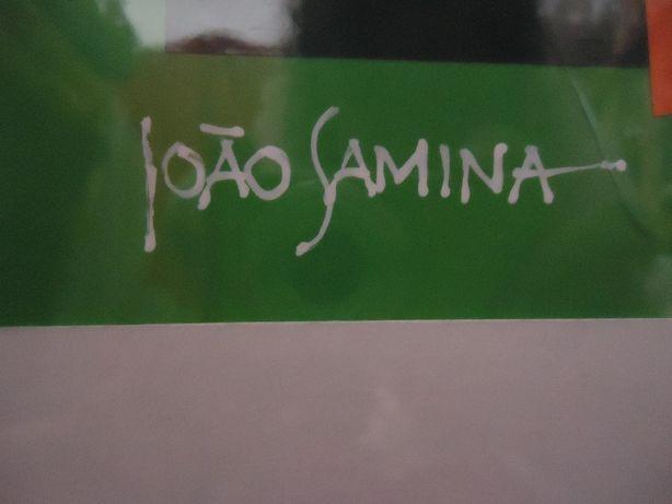 Quadro JOÃO SAMINA Original-Técnica Mista c/Colagens Cartolina 52x42cm