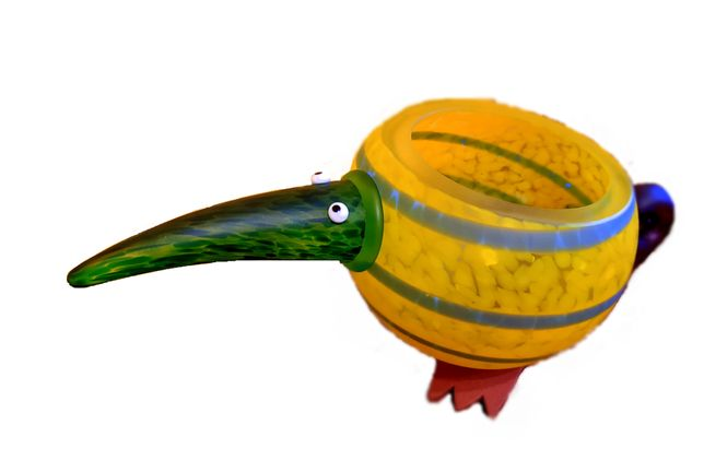 Bird Kiwi- szkło artystyczne, idealne do wystroju wnętrz