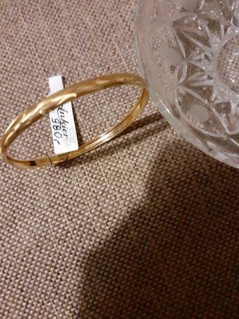 Bransoletka zlota 14 karatowe złoto próba 585