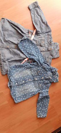 Bluzka i tunika/sukienka dla rocznej dziewczynki