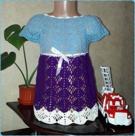 Платье ручной работы (детское, крючок)