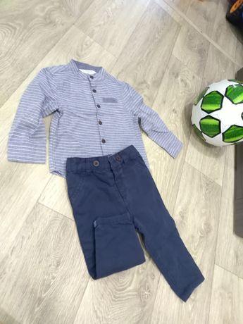 Набор на 6-9 мес, на мальчика, штанишки и рубашечка, костюм