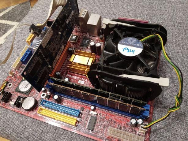 Płyta główna z procesorem, pamięć ram, karta graficzna