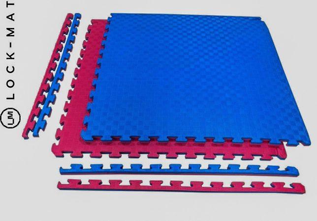 "Татами ""ласточкин хвост"" 26 мм, 120 кг/м.куб. красно- синие"