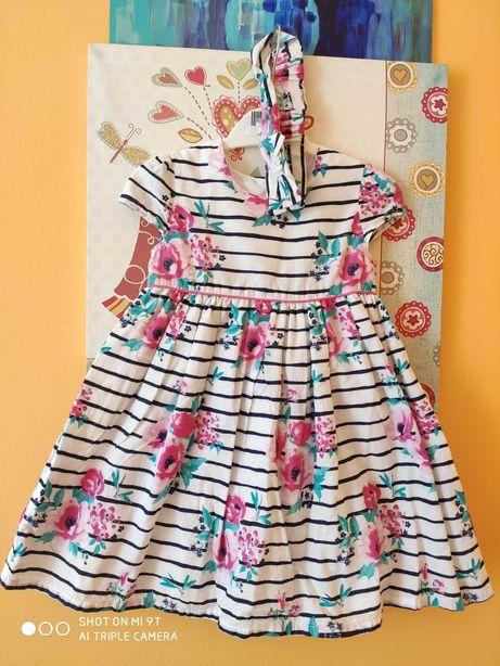 Детское нарядное платье летнее, размер 80-86 см, 12-18 мес.