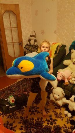 Игрушка дельфин большая сидеть детская мягкая рыба киев-доставка
