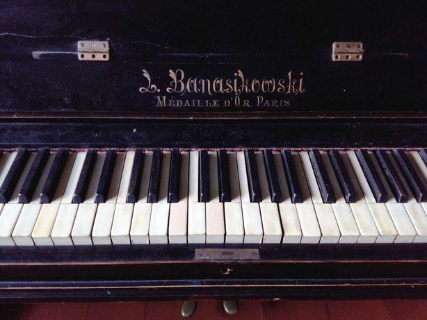 zabytkowe niemal stuletnie pianino L. Banasikowski - sprawne