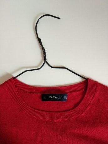 Светр Zara knit S червоний/ кофта красная зара 36