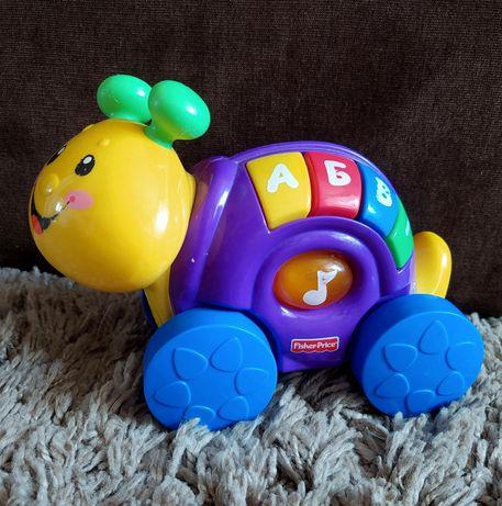 Fisher price игрушка іграшка музична музыкальная слимак укр мова