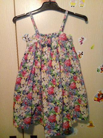Śliczna sukienka łączka George lato 86 cm