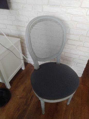 Krzesła medaliony białe ,szare 6 sztuk
