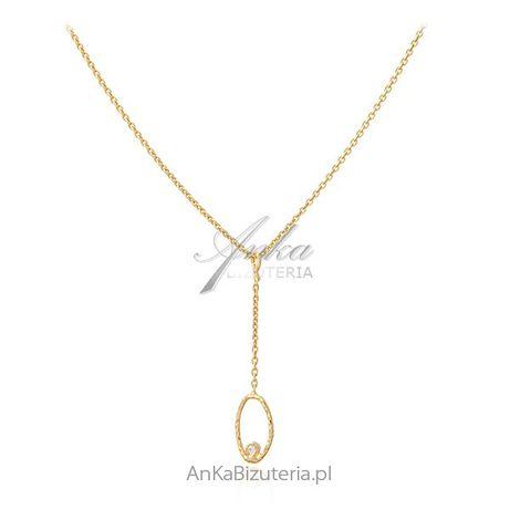 ankabizuteria.pl biżuteria astrologiczna Srebrny naszyjnik pozłacany z