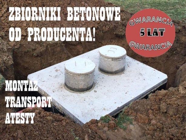 szamba betonowe szczelne, zbiorniki na szambo transport i montaz