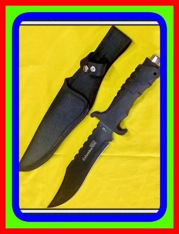 Noz Nóż Myśliwski Finka Czarny dł.31,5cms.(Survival Ratowniczy Taktycz