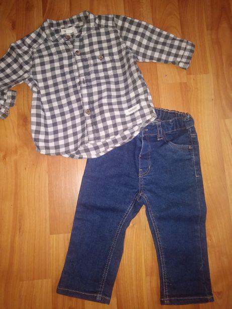 Komplet spodnie hm koszula newbie