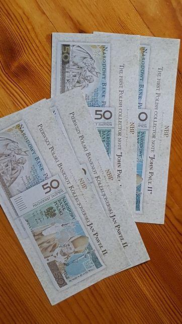 4 Foldery do Banknotu papież JPII
