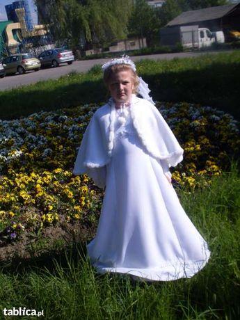 Piekna sukieneczka do komuni i dodatki