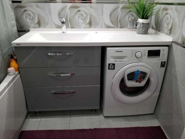 умывальник под заказ над стиральной машиной, столешница для ванной