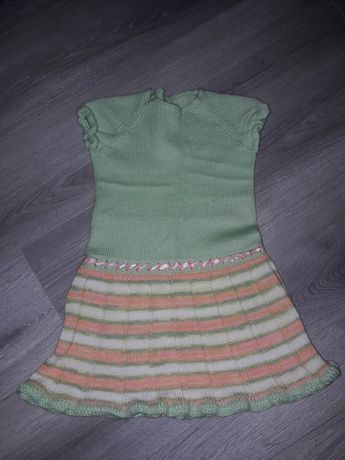 Платье ручной вязки