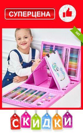 Набор художника для рисования с мольбертом подарок девочке 121