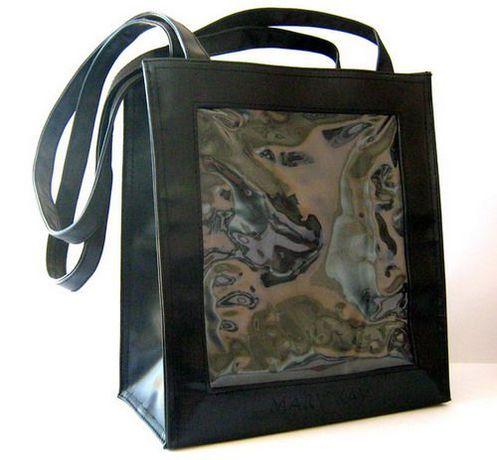 Новая черная кожаная сумка Mary Kay