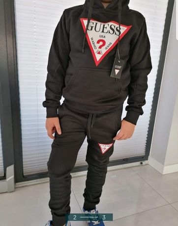 Dres zestaw sportowy meski bluza spodnie Guess s m l xl xxl