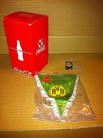 Coca Cola Borussia Dortmund copo + pin + galhardete