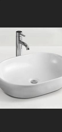 Nowa, śnieżnobiała umywalka Massi Doti 60×43×14