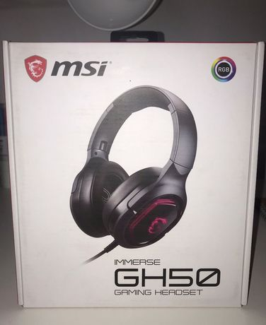 Auscultadores MSI immerse gh50 gaming headset