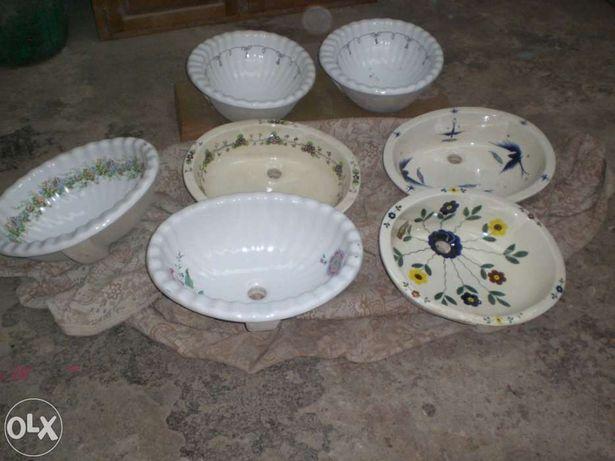 Lavavos en porcelana pintados a mao antigos