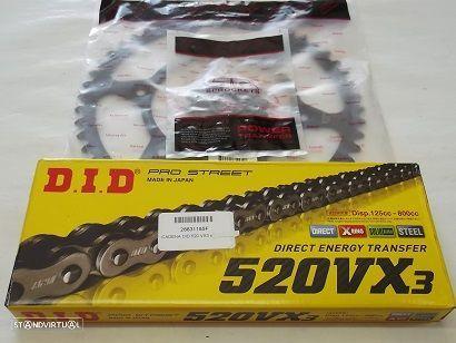 Kit Transmissao corr. DID X-Ring KTM 400 EXC 400 MXC 400 SC 400 SX 400 SMR