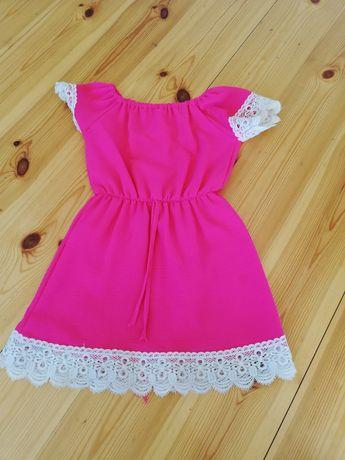 Sukienka różowa roz 116
