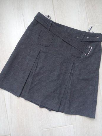 Шерстяная юбка с ремнем marie lund copenhagen