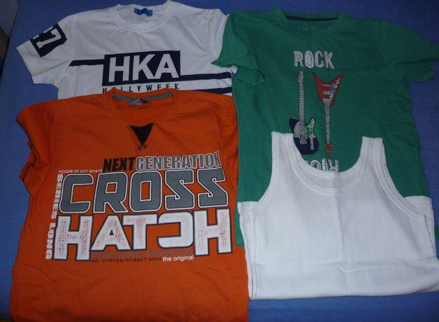 Ubrania chłopięce - zestaw ,szorty, t-shirt, podkoszulki rozmiar 146