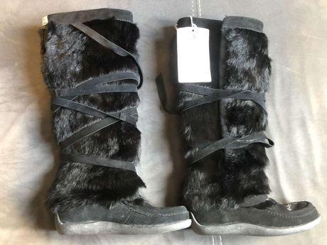 Buty zimowe damskie z futra króliczego Muks Mukluk roz 39 Okazja Tanio