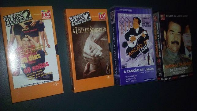 VHS e cassetes antigas