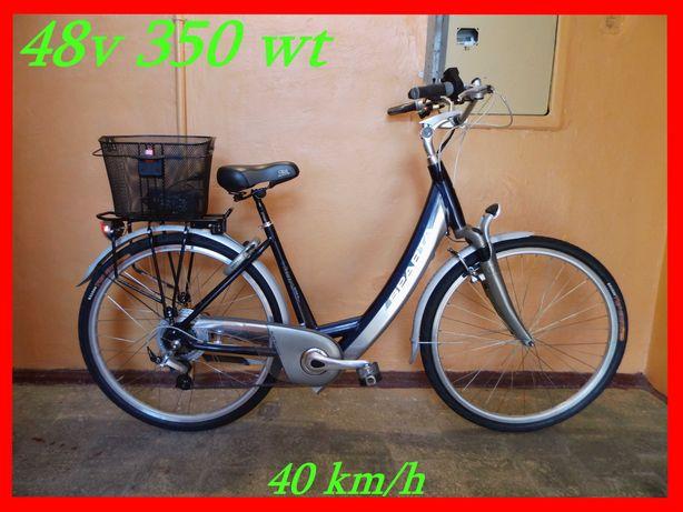 Электро-велосипед електро-велосипед 48v РУЧКА ГАЗА! как Новый!