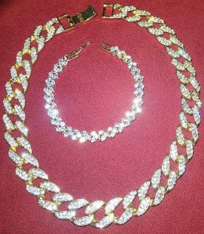 """""""Swarovski""""- złote (14k) naszyjniki, bransoletki oraz zegarki;"""